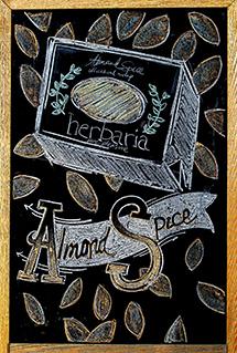 Melissa's Herbaria Almond Spice chalkboard