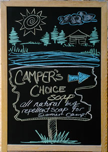 Melissa's Herbaria Camper's Choice chalkboard