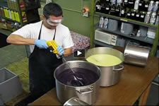 Chris making Herbaria French Lavender soap photo