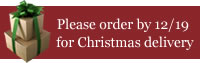 please order by 12/19 for Christmas delivery
