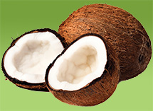 raw coconut halfs