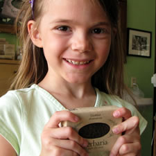Erin McWilliams with licorice soap photo