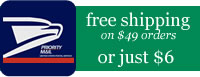 free shipping on $49 orders; just $6 shipping for smaller orders