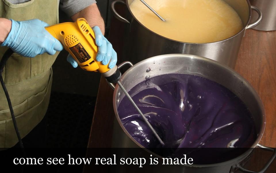 come see how real soap is made