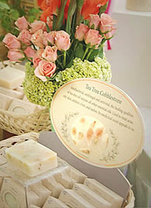 herbaria all natural handmade soap display