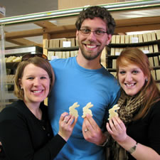 three Herbaria customers with bunny-shapedsoap