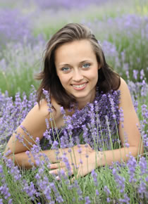 woman in lavender field photo