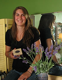 Chloe with herbaria french lavender soap