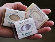 Herbaria cutie soaps in hand