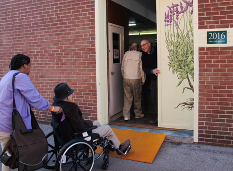 Herbaria accessible entrance