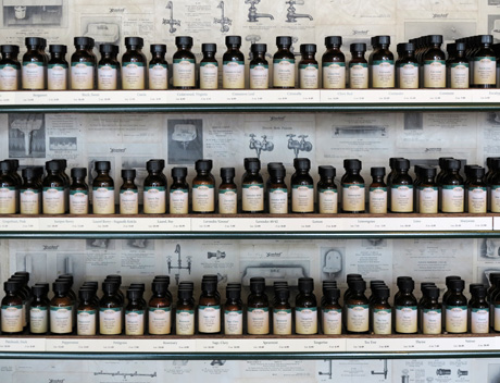 essential oil display in store