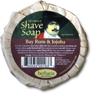 Herbaria all natural bay rum and jojoba oil shave soap photo