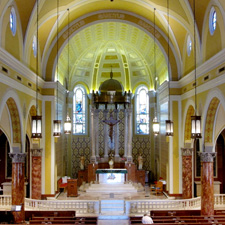 St. Ambrose Church interior, the Hill St. Louis