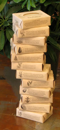 stack of Herbaria soaps photo