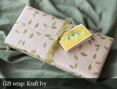 Gift Wrap - Kraft Ivy